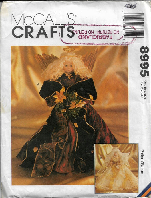 McCall's Crafts 8995 Christmas Angel Sewing Pattern - VintageStitching - Vintage Sewing Patterns