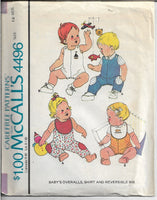 mccalls 4496 baby overalls pattern 1970s