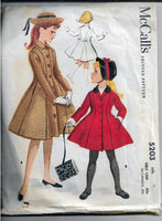 girls coat vintage pattern mccalls 5203