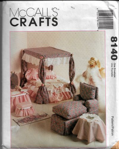 McCalls 8140 Barbie Doll Furniture Craft Sewing Pattern - VintageStitching - Vintage Sewing Patterns