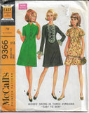 ladies dress mccalls 9366 vintage