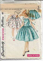 simplicity 1633 party dress 1950s pattern
