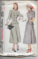 ladies dress simplicity 1866 1940s