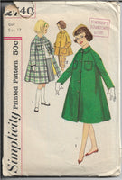 vintage sewing pattern 1950s coat