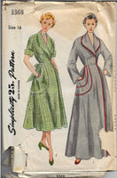 simplicity 3368 housecoat vintage pattern
