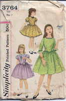simplicity 6764 party dress vintage pattern