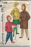 simplicity s39 childs coat pattern