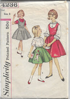 simplicity 4236 girls jumper skirt