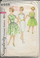 ladies dress pattern simplicity 4468