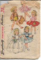 simplicity 4909 vintage doll pattern