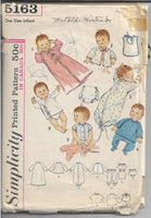 infant layette vintage pattern 1960s