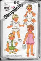 simplicity 5523 toddler romper pattern