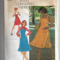 Simplicity 6926 Strappy Jumper Dress Vintage Sewing Pattern 1970s - VintageStitching - Vintage Sewing Patterns