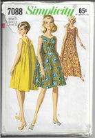 simplicity 7088 ladies muu muu dress