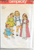 simplicity 7154 toddlers dress pattern