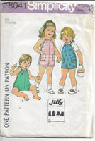 simplicity 8041 toddler jumpsuit 1977