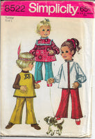 simplicity 8522 toddlers pants pattern