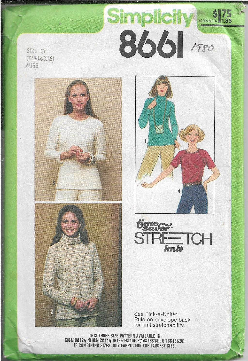 Simplicity 8661 Ladies Pull Over Top Vintage Sewing Pattern 1970s - VintageStitching - Vintage Sewing Patterns