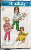Simplicity 9090 Toddler Lace Trimmed Top Bloomers Pants Vintage Sewing Pattern 1970s - VintageStitching - Vintage Sewing Patterns