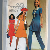 Simplicity 9502 Ladies Dress Tunic Vintage Sewing Pattern 1970s - VintageStitching - Vintage Sewing Patterns