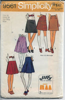 simplicity 9561 ladies skirt vintage pattern 1970s