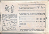 Simplicity 1097 Girls Boys Snow Suit Vintage Sewing Pattern 1940s Unprinted