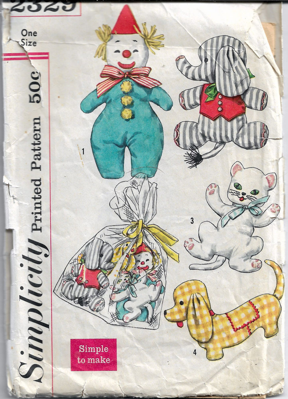 simplicity 2329 vintage craft pattern