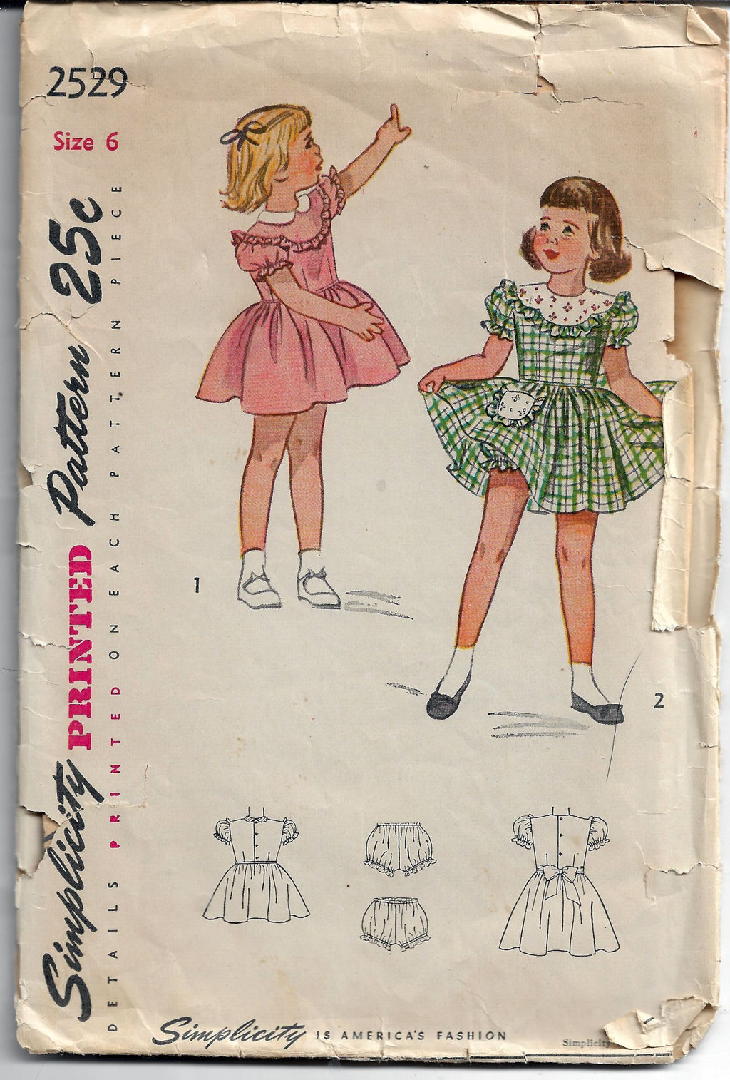 childs dress vintage pattern 1940s