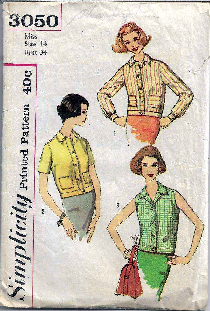 Simplicity 3050 Ladies Overblouse Vintage 1960's Sewing Pattern - VintageStitching - Vintage Sewing Patterns