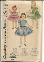 simplicity 3868 girls dress vintage pattern 1950s