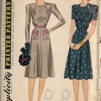 Simplicity 4084 Day Dress V Is For Victory Wartime Vintage Pattern