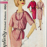 Simplicity 4139 Misses Shirtwaist Dress Vintage 1960's Sewing Pattern Mad Men - VintageStitching - Vintage Sewing Patterns