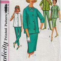 Simplicity 4858 Maternity Blouse Skirt Pants Vintage Sewing Pattern Mad Men - VintageStitching - Vintage Sewing Patterns