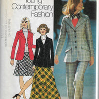 Simplicity 5212 Vintage Sewing Pattern 1970s Teen Ladies Blazer Jacket - VintageStitching - Vintage Sewing Patterns