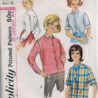 Simplicity 5288 Teen Blouse Shirt Vintage Sewing Pattern - VintageStitching - Vintage Sewing Patterns
