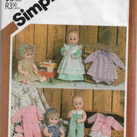 doll clothes vintage pattern simplicity 5615