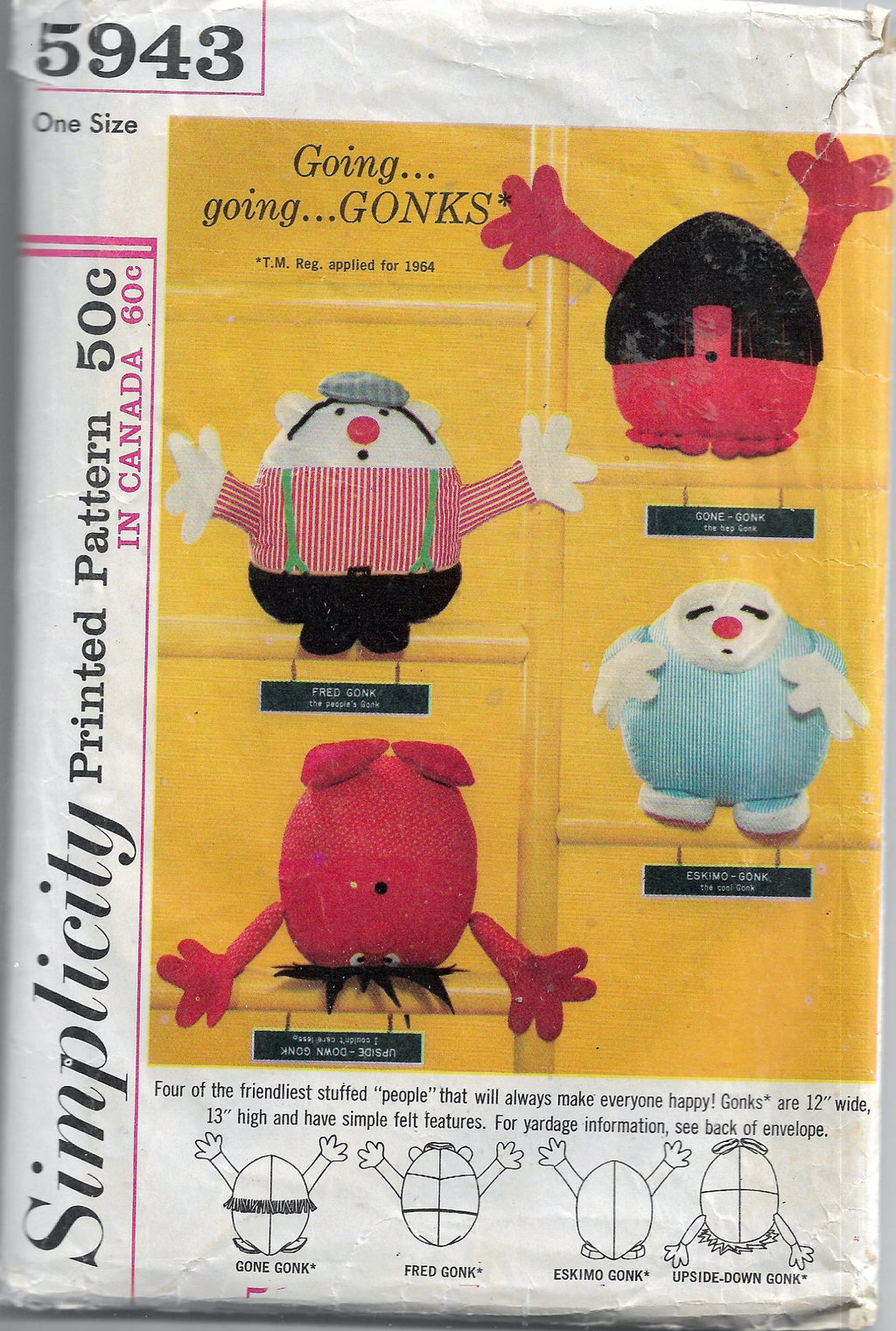 vintage craft pattern simplicity 5943