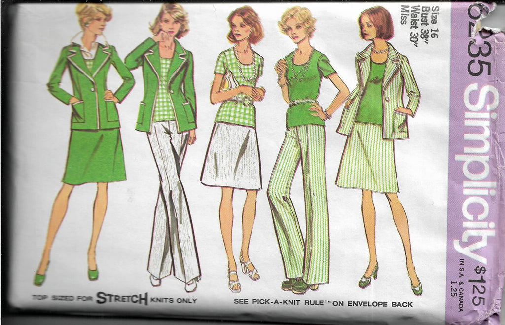simplicity 6235 ladies separates vintage pattern