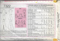 Simplicity 7322 Toddlers Jumpsuit Romper Vintage Sewing Pattern 1970s