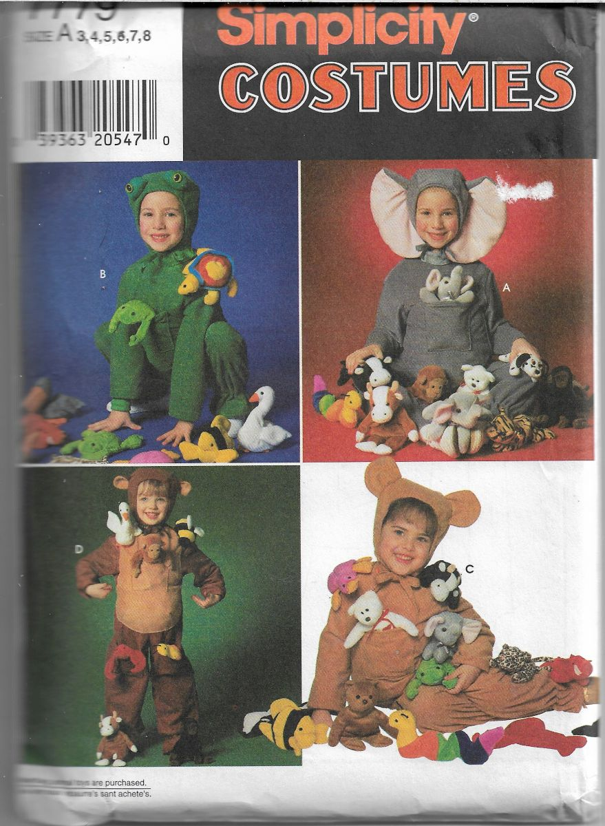 childs costume pattern simplicity 7779