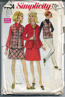 mini skirt simplicity 7794 vintage pattern