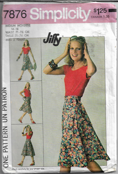 wrap skirt simplicity 7876 vintage sewing pattern