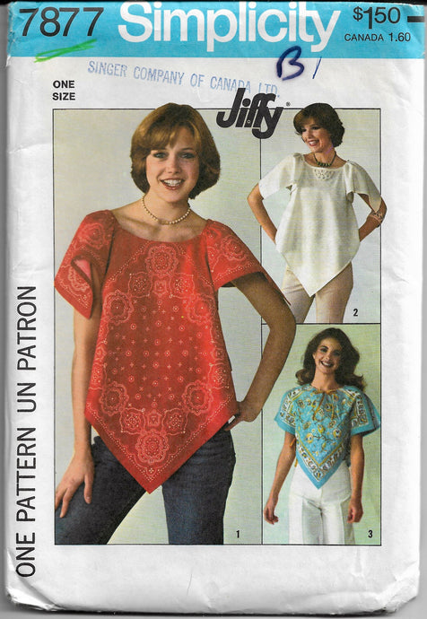 simplicity 7877 pullover top vintage pattern