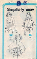 Simplicity 8029 Ladies Halter Top Vintage Sewing Pattern 1970s No Envelope