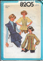 simplicity 8205 vintage pattern 1970s pullover top