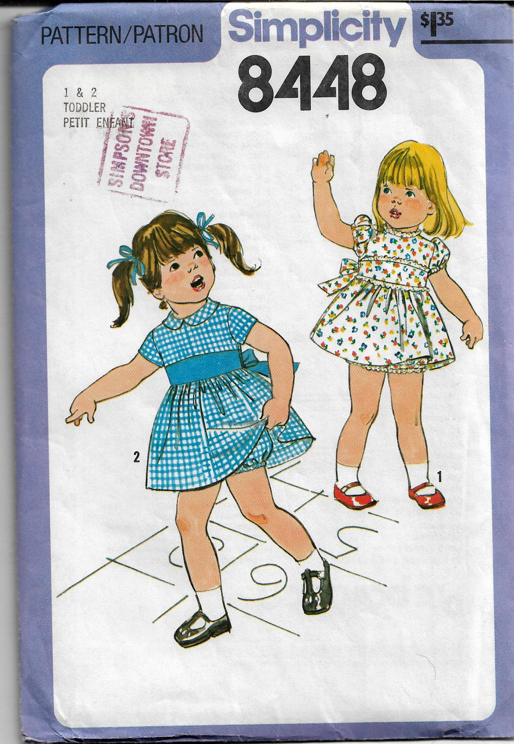 toddlers dress vintage pattern simplicity 8448