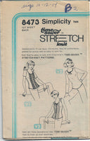 Simplicity 8473 Ladies Pullover Top Vintage Sewing Pattern 1970s No Envelope