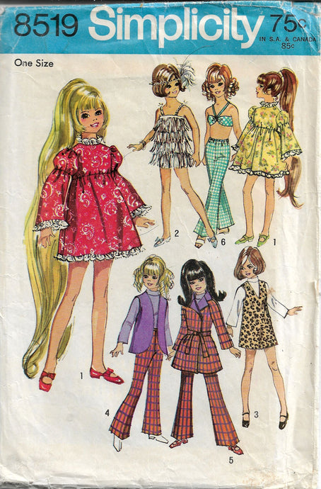 simplicity 8519 doll vintage pattern crissy