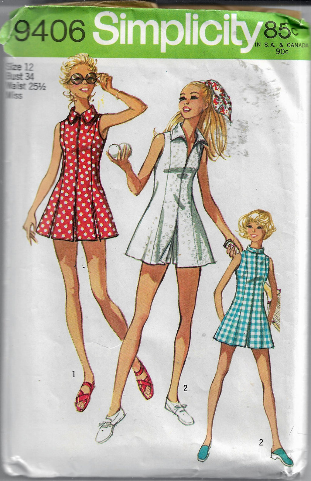 Simplicity 9406 vintage pattern tennis dress