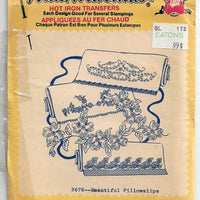 Vintage Transfer Pattern Aunt Marthas 3678 Pillowcase Floral Motif - VintageStitching - Vintage Sewing Patterns